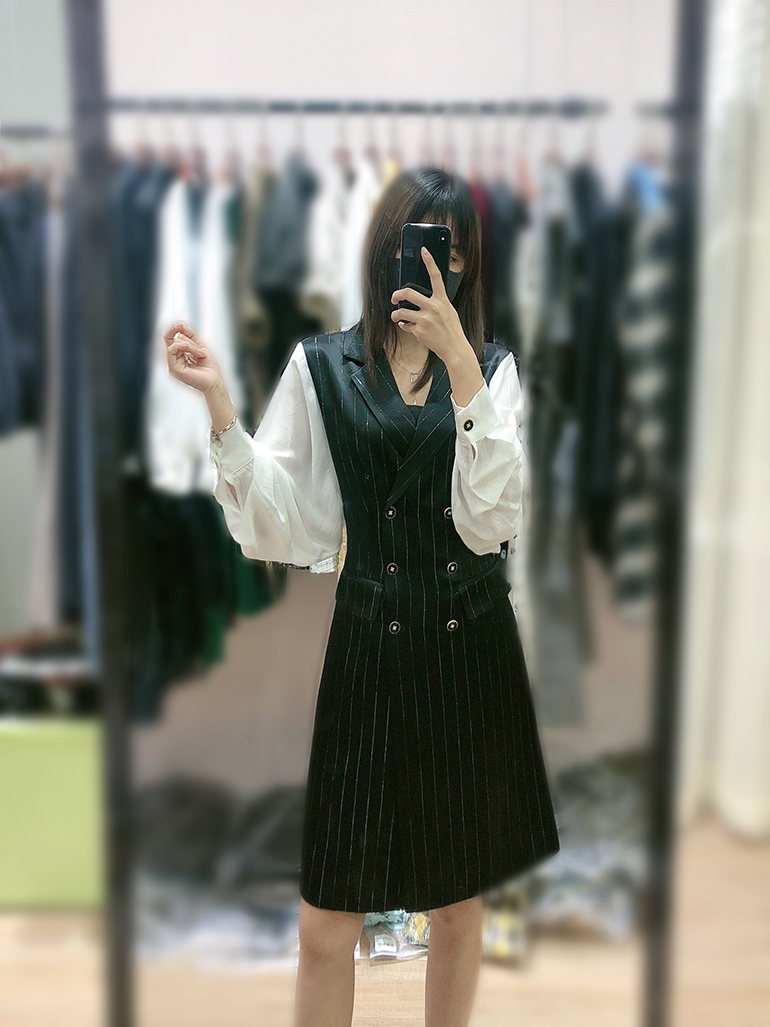 Ladies Office Stitching Dress